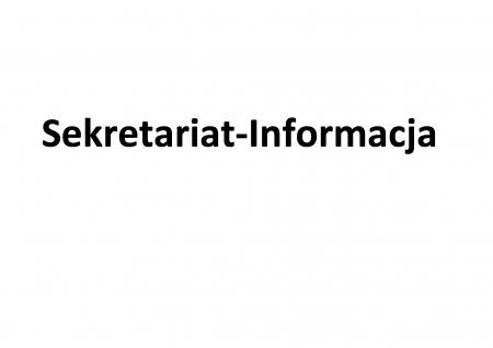 Sekretariat -Informacja