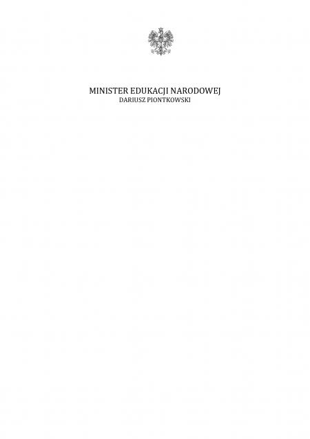List Ministra Edukacji Narodowej z okazji rozpoczęcia nowego roku szkolnego 2020/2021