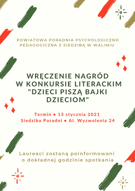 Uroczyste ogłoszenie wyników i Wręczenie Nagród w Konkursie Literackim ,, Dz